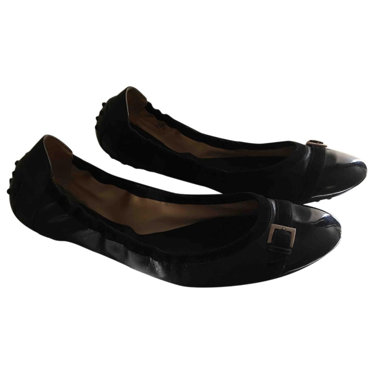 Tod's \N Black Leather Ballet flats for Women 40.5 EU