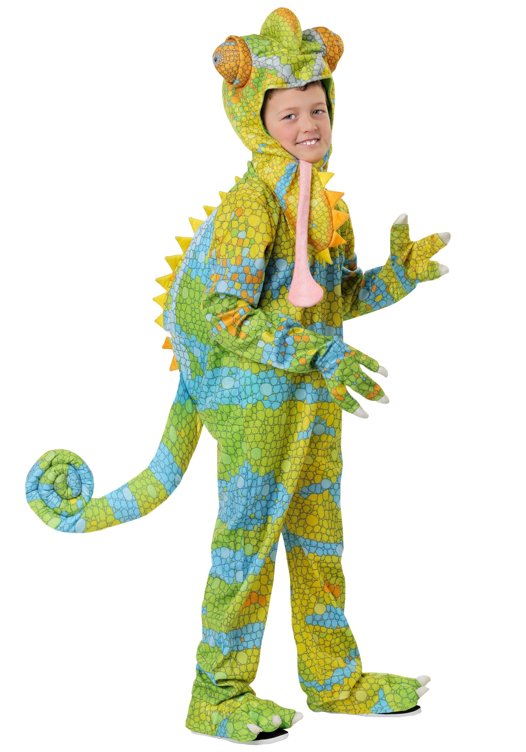 Realistic Chameleon Costume for a Child