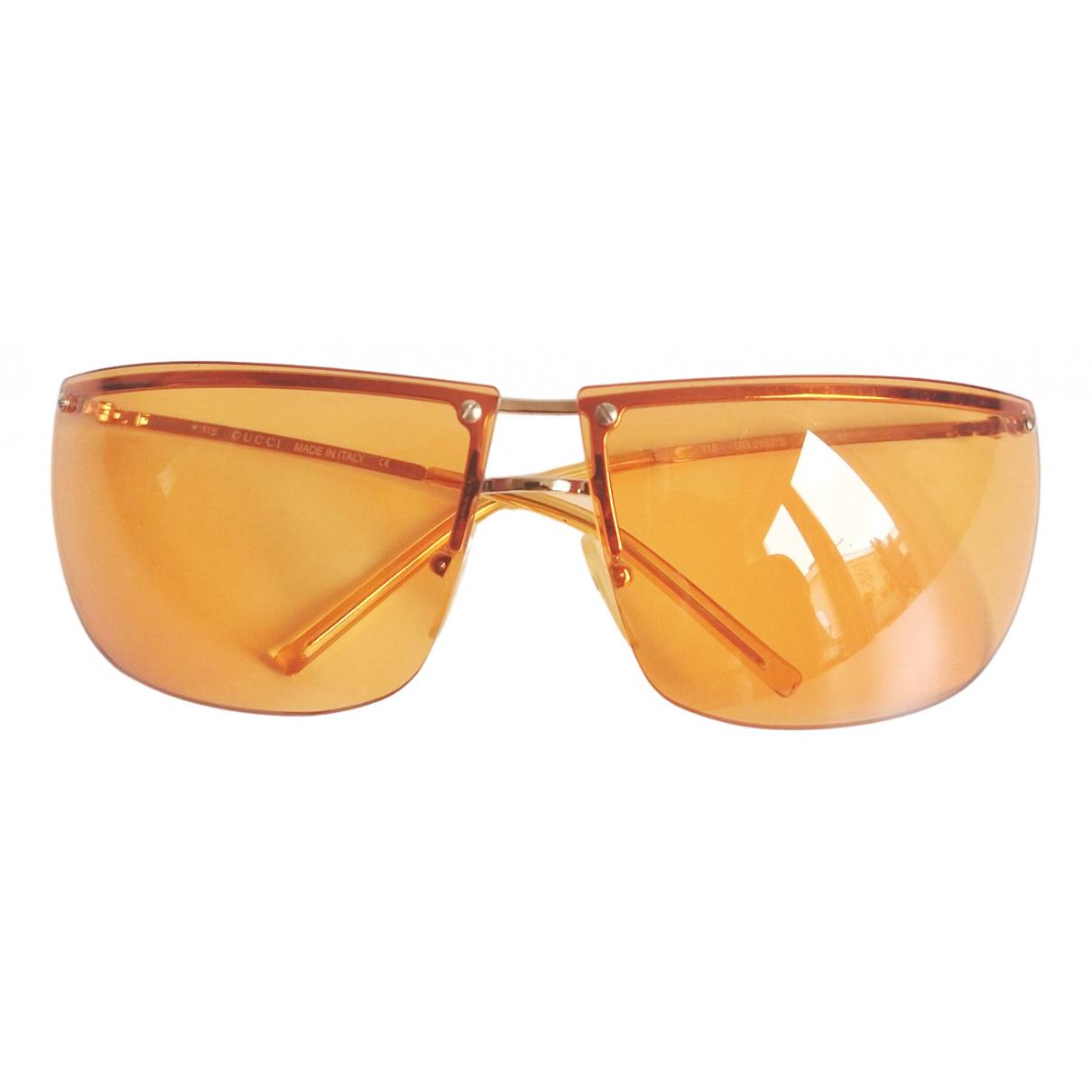 Gucci - Lunettes   pour femme en metal - orange
