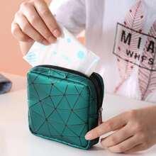 Geometric Pattern Sanitary Napkin Storage Bag