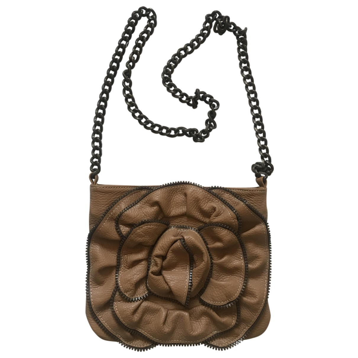 Non Signé / Unsigned N Camel Leather handbag for Women N