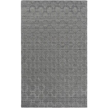 Arete AET-1000 2' x 3' Rectangle Modern Rug in Medium Grey