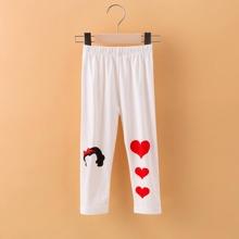 Toddler Girls Heart Print Pants