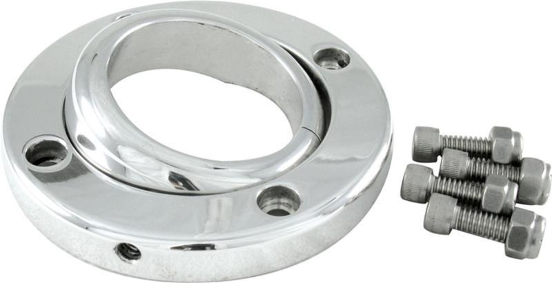 Borgeson 909013 Swivel Floor Mount For 1 1/2in. Steering Column; Machine Finish Aluminum