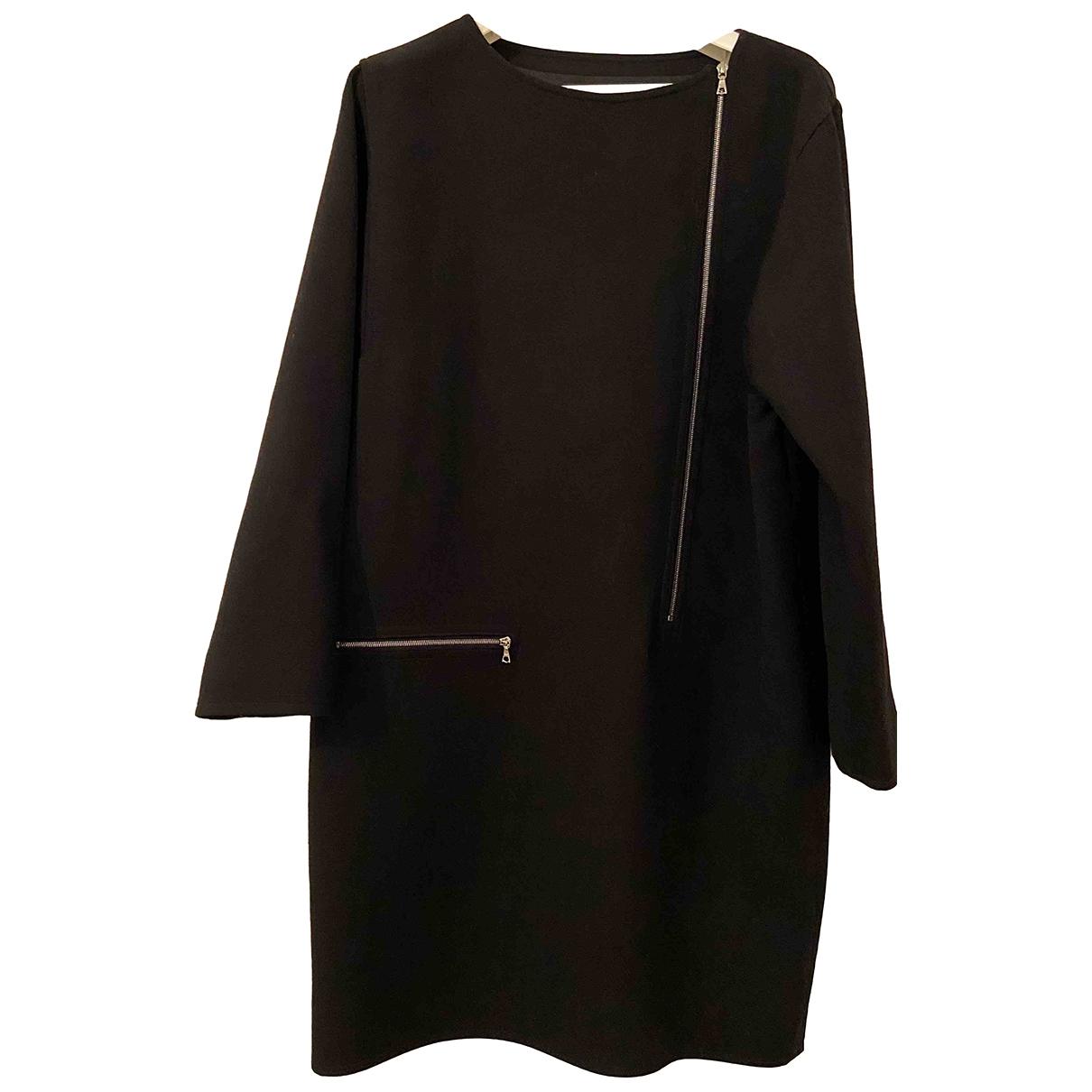 Courreges \N Kleid in  Schwarz Seide