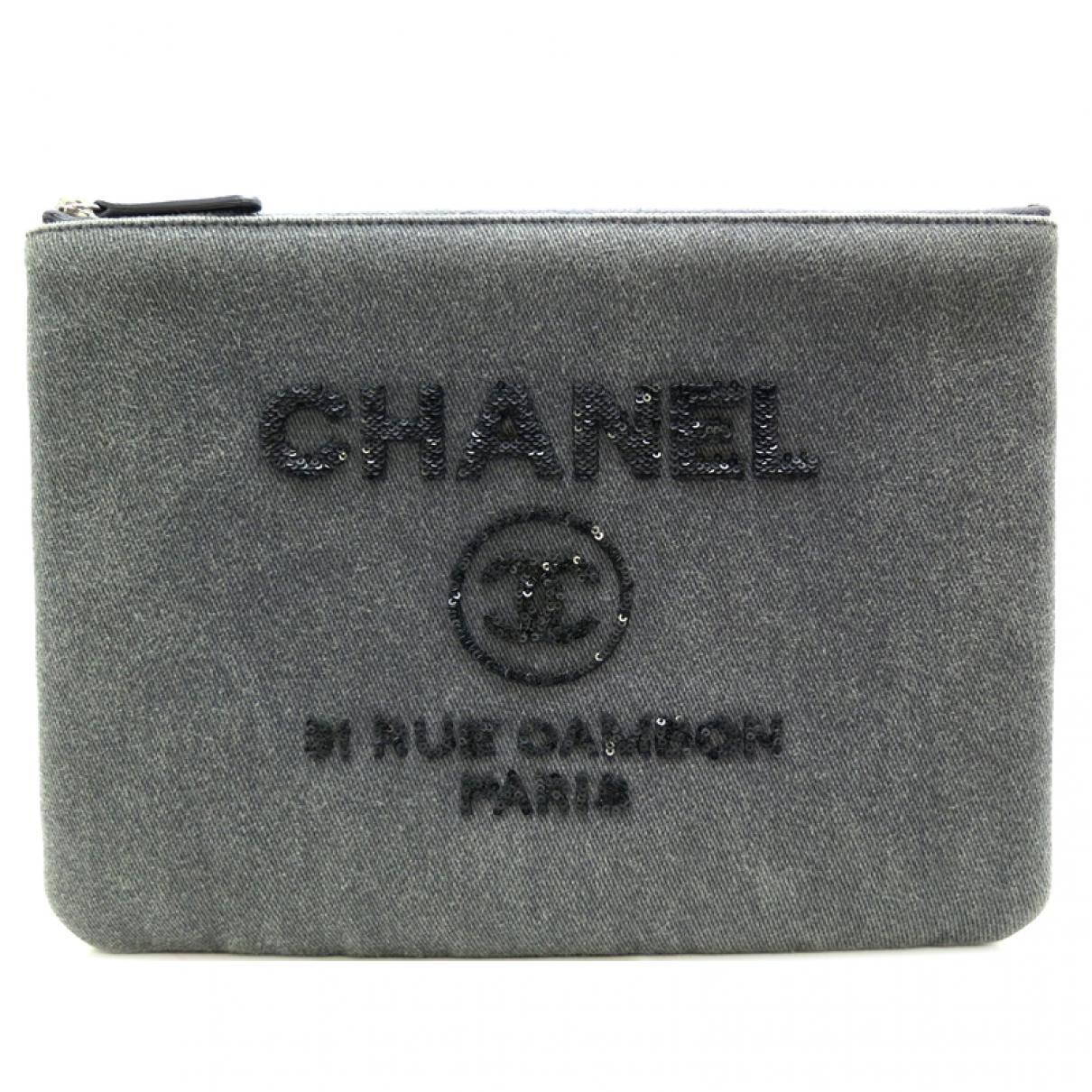 Bolsos clutch en Denim - Vaquero Gris Chanel