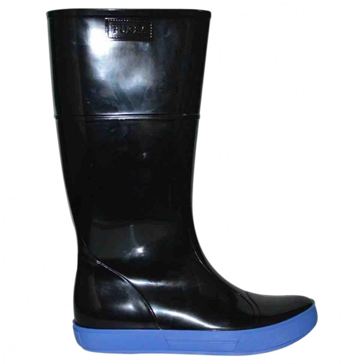 Furla - Bottes   pour femme en caoutchouc - noir