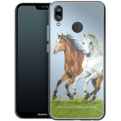 Huawei P20 Lite Silikon Handyhuelle - Pferdefreunde Ausritt von Pferdefreunde