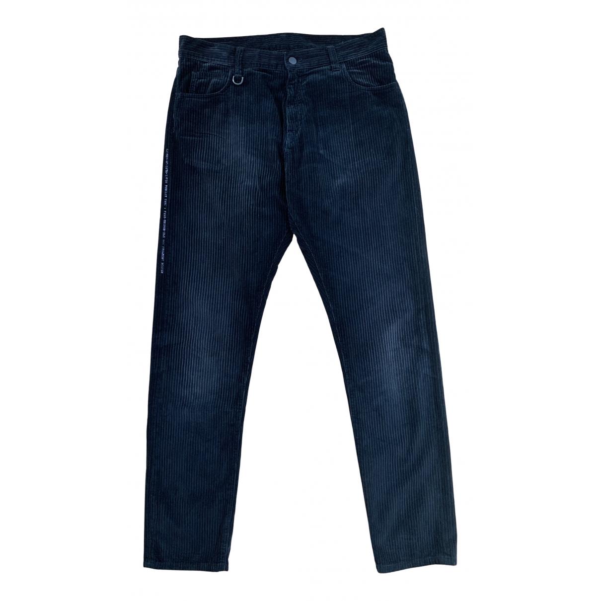 Moncler Genius Moncler n°7 Fragment Hiroshi Fujiwara Black Cotton Trousers for Men 48 IT