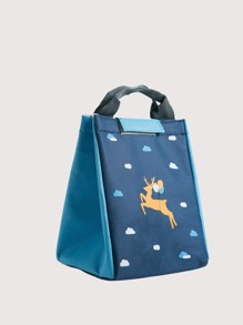 1pc Cartoon Graphic Lunch Insulation Bag