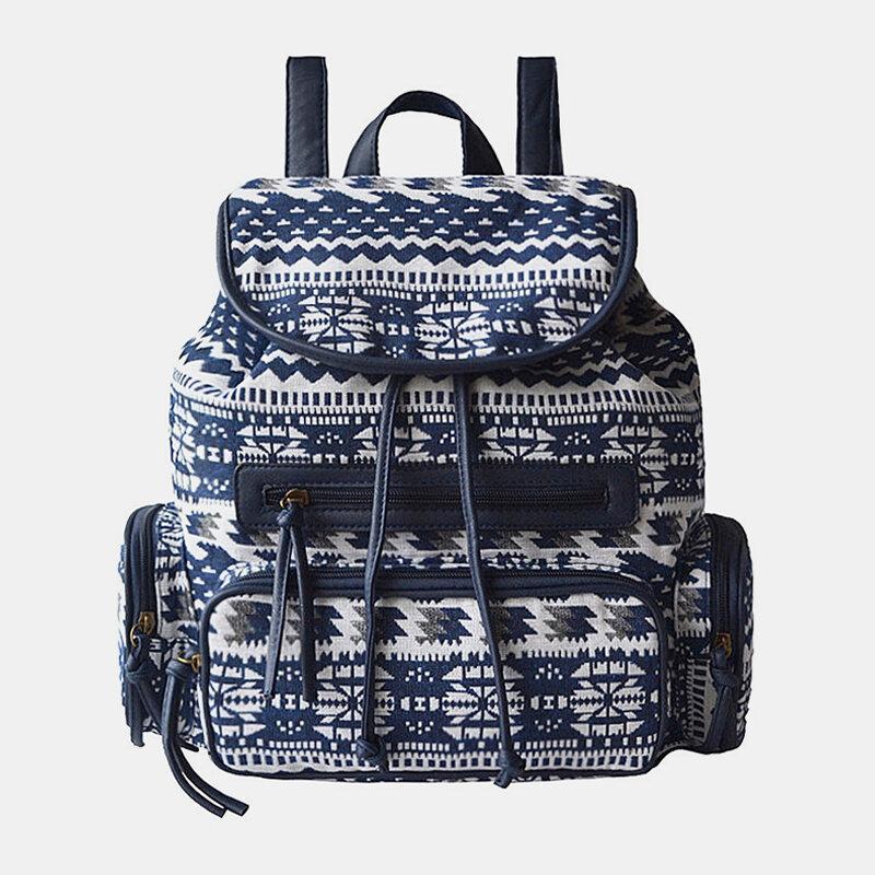 Women Canvas Print Bohemia Backpack