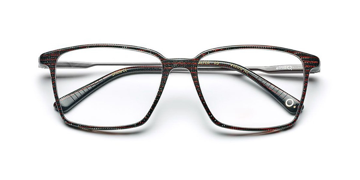 Etnia Barcelona Walter RD Men's Glasses Black Size 54 - Free Lenses - HSA/FSA Insurance - Blue Light Block Available