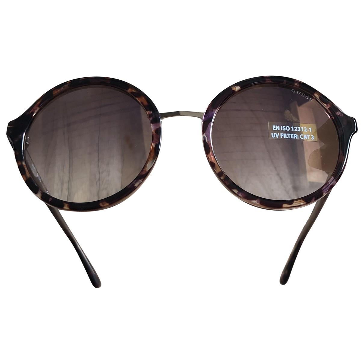 Guess \N Camel Metal Sunglasses for Women \N