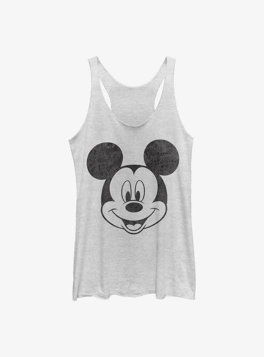 Disney Mickey Mouse Face Womens Tank Top