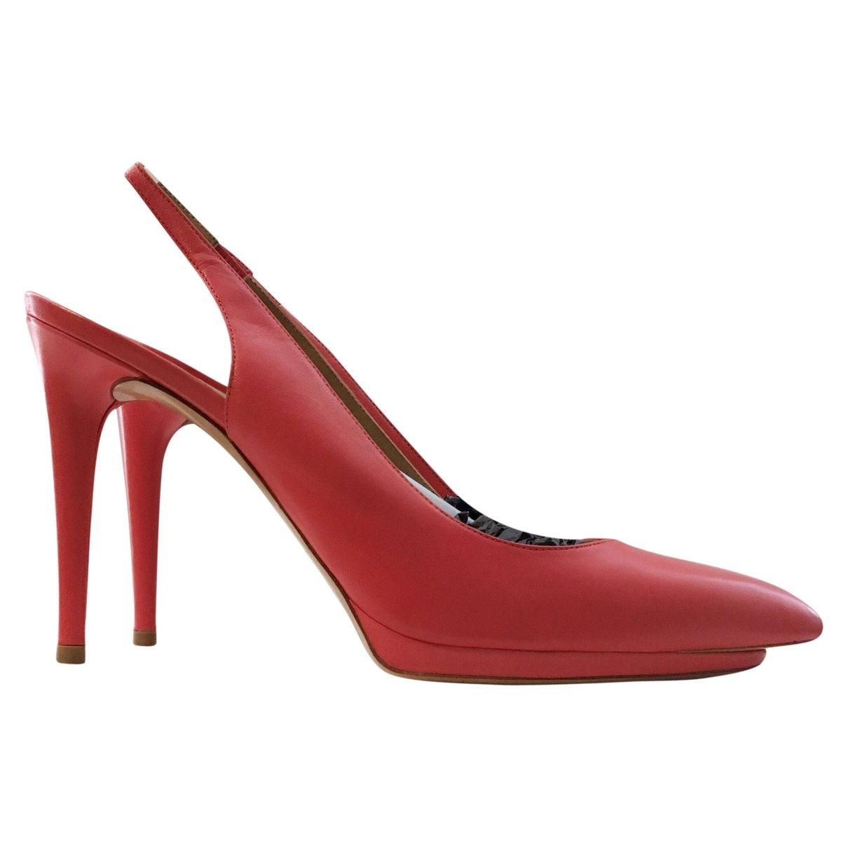 Balenciaga \N Red Leather Heels for Women 39 EU