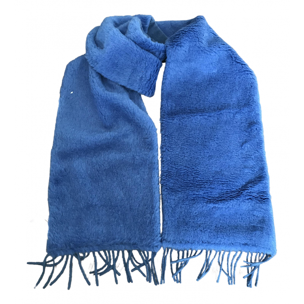Max Mara \N Blue Wool scarf for Women \N