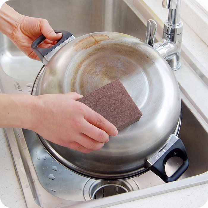 Magic Emery Sponge Brush Eraser Cleaner Kitchen Rust Cleaning Tool