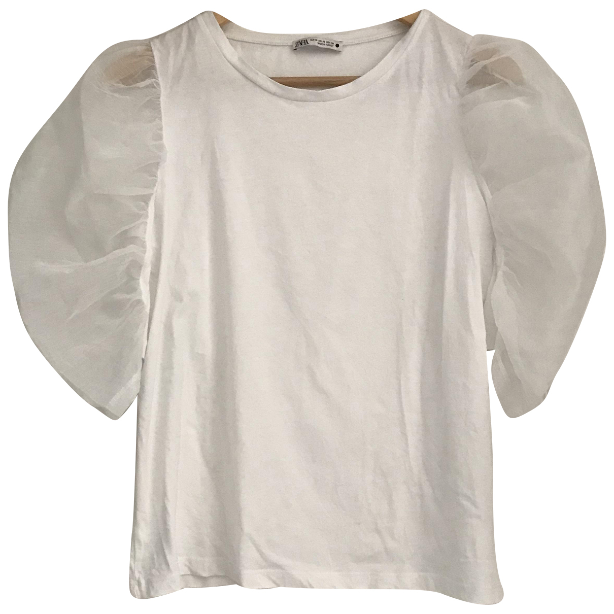 Zara \N White Cotton  top for Women 38 FR