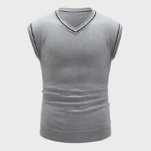 Guys Striped Sweater Vest