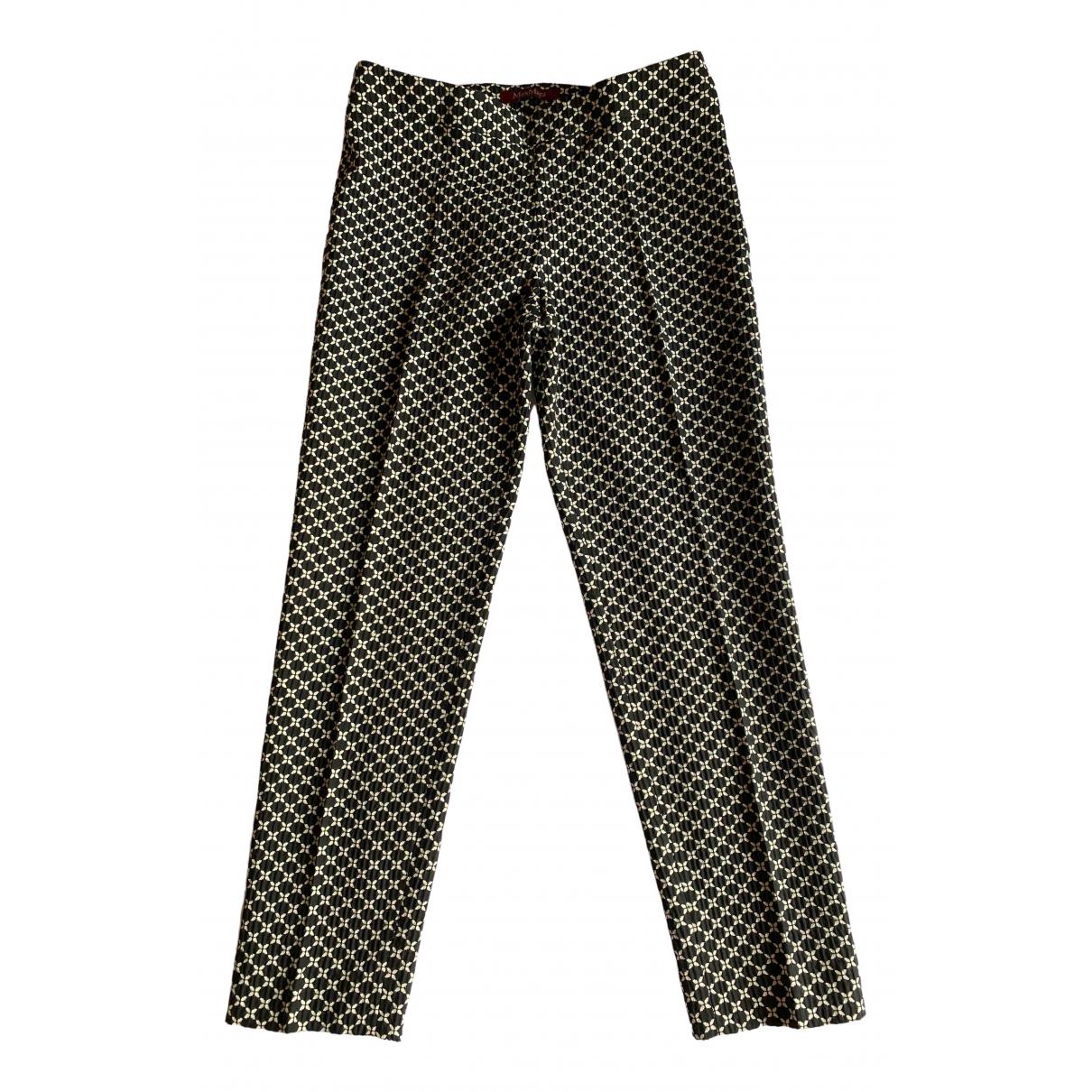 Max Mara Studio \N Black Trousers for Women 42 IT