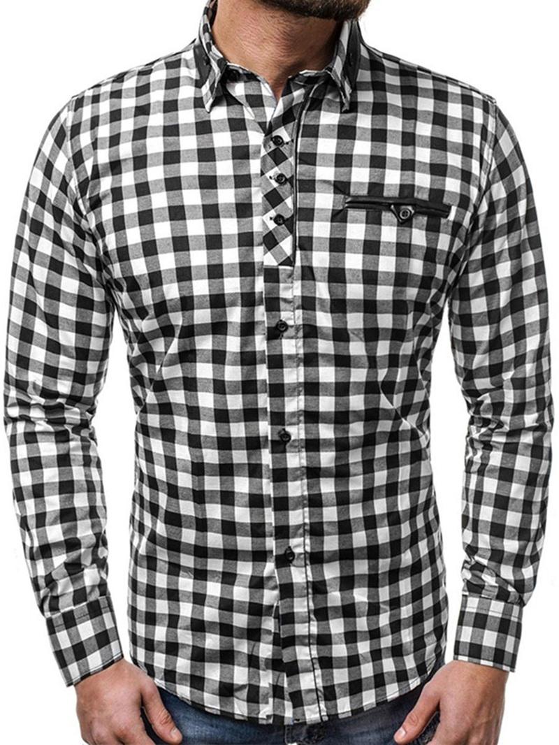 Ericdress Lapel Casual Plaid Single-Breasted Fall Shirt