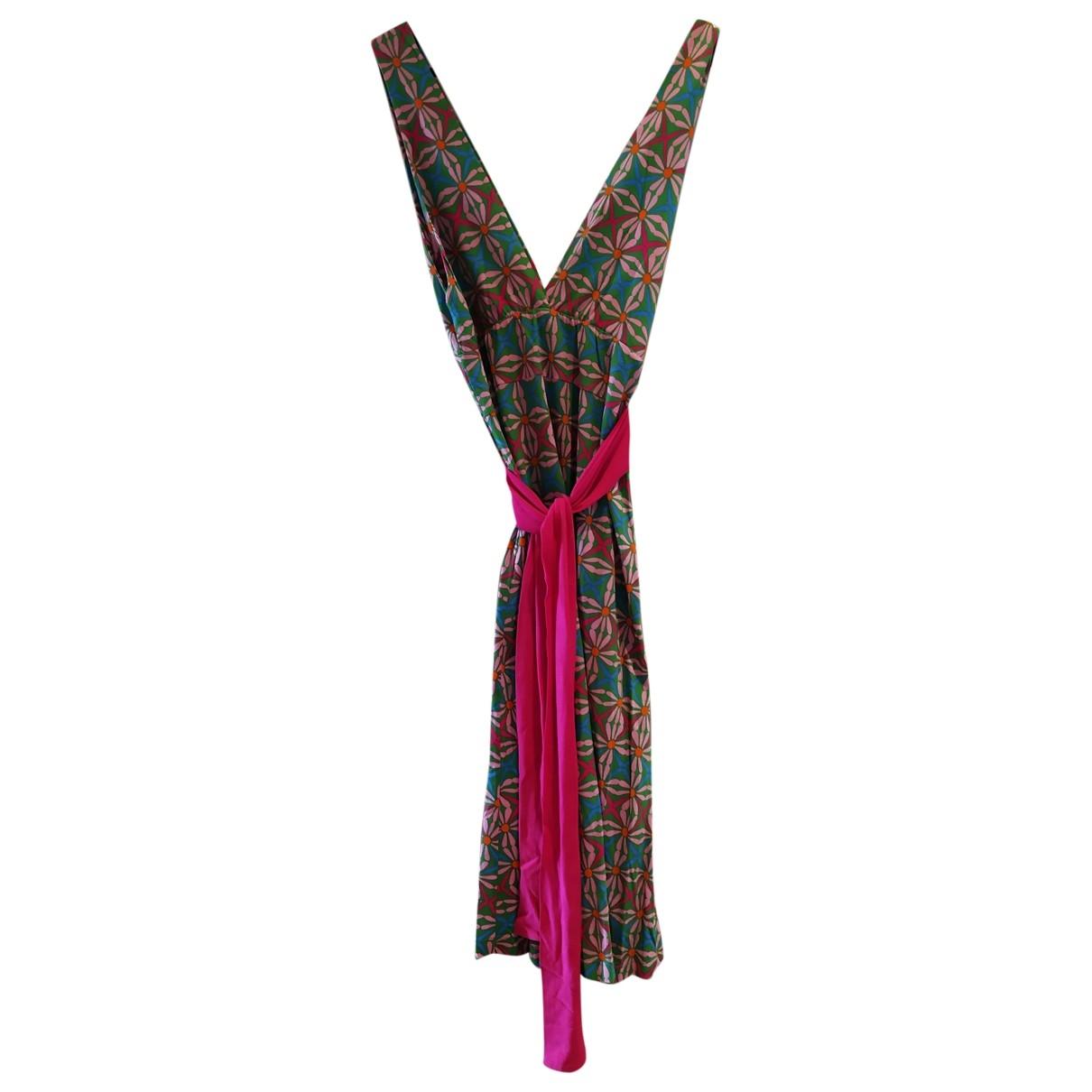 - Robe   pour femme en coton - elasthane - multicolore