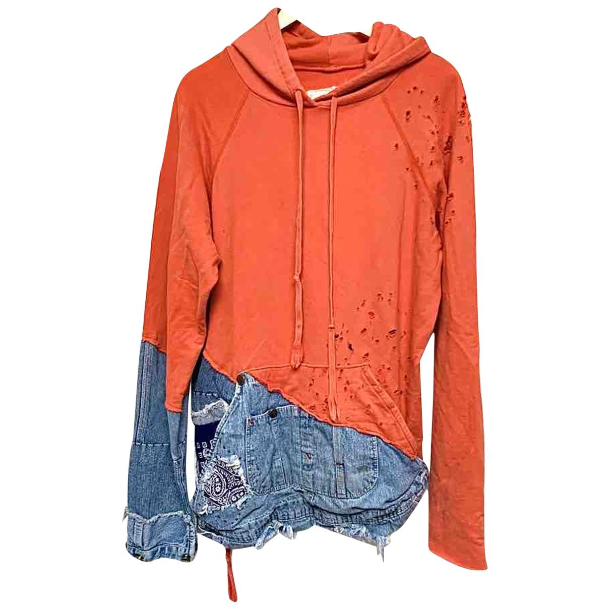 Greg Lauren \N Pullover.Westen.Sweatshirts  in  Rot Baumwolle