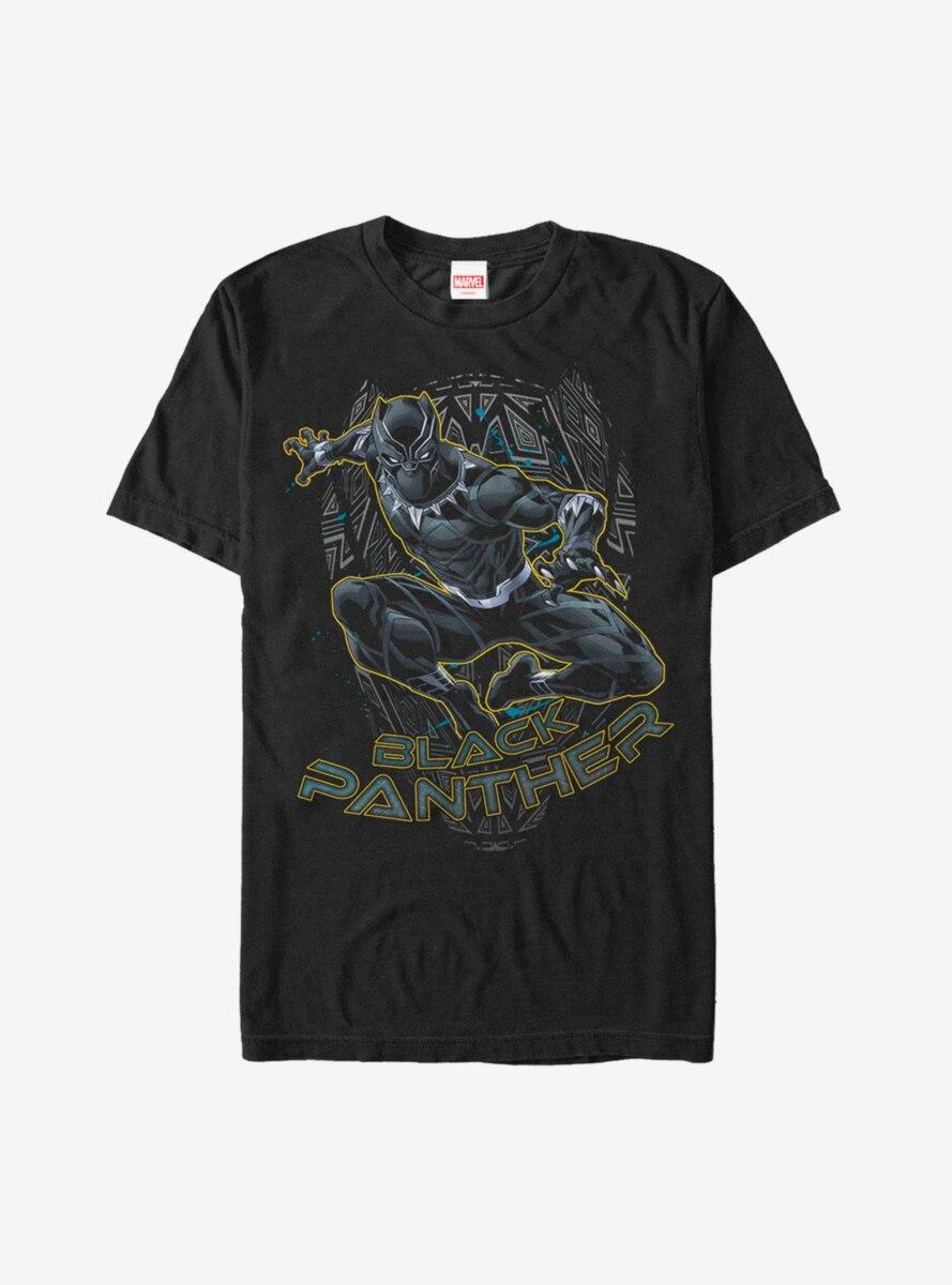 Marvel Black Panther Mask Outline T-Shirt