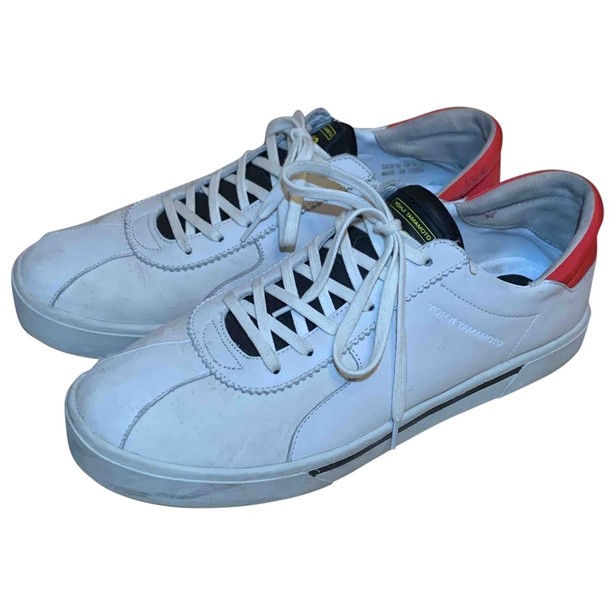 Y-3 By Yohji Yamamoto \N Sneakers in  Weiss Leder
