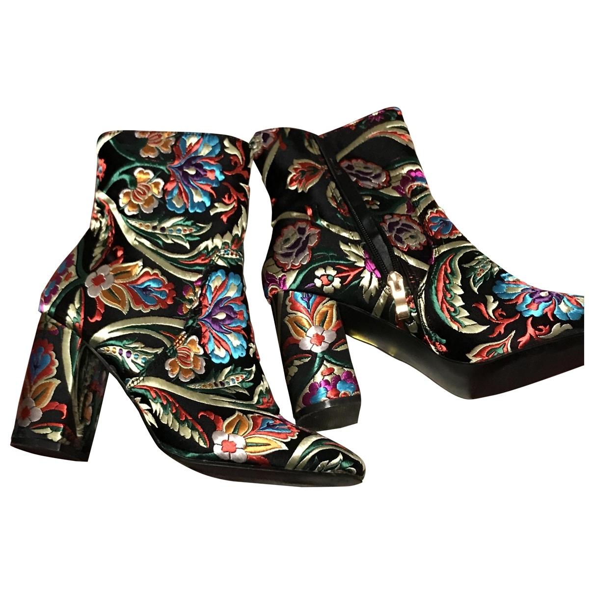 - Boots   pour femme en velours - multicolore