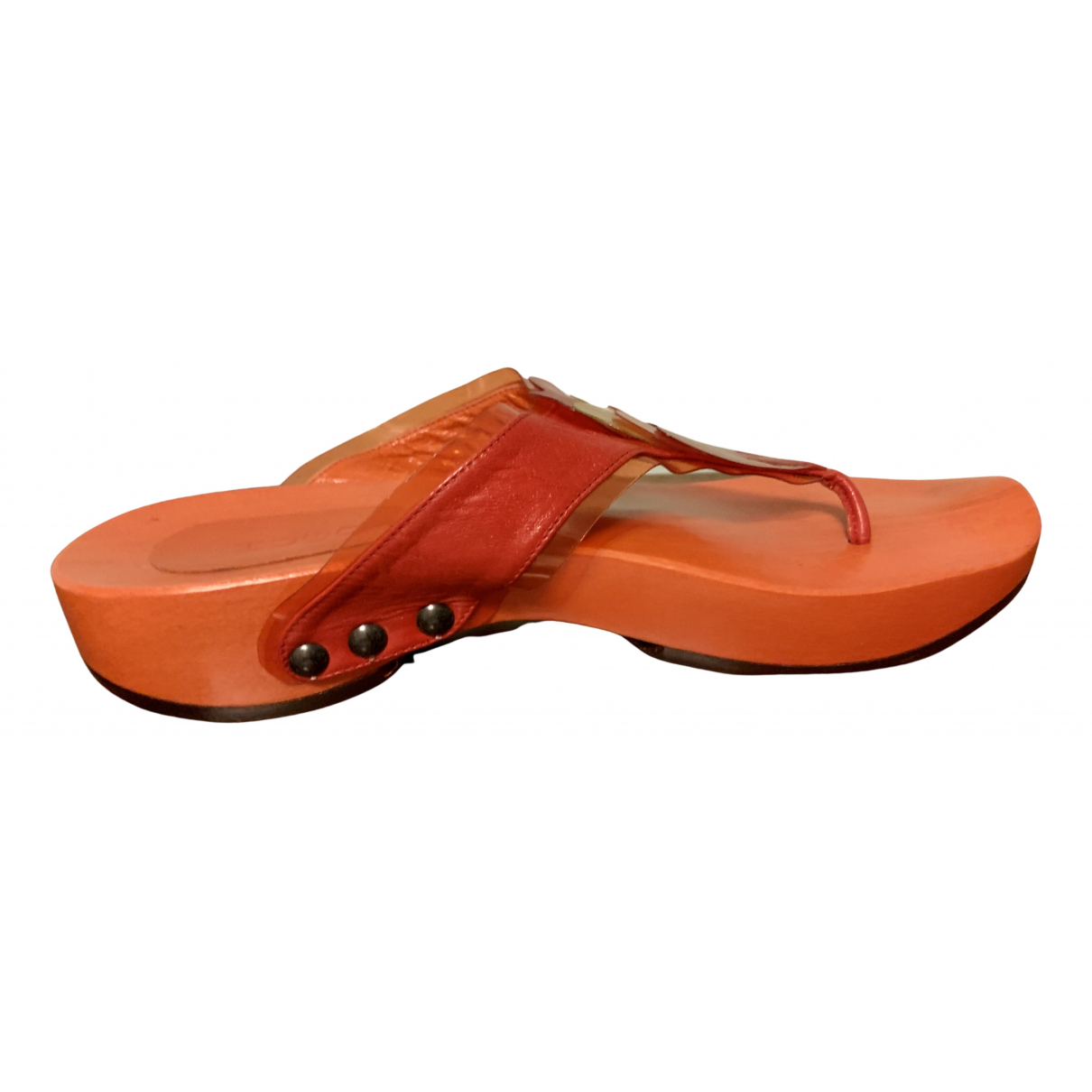 Hugo Boss \N Clogs in  Orange Leder