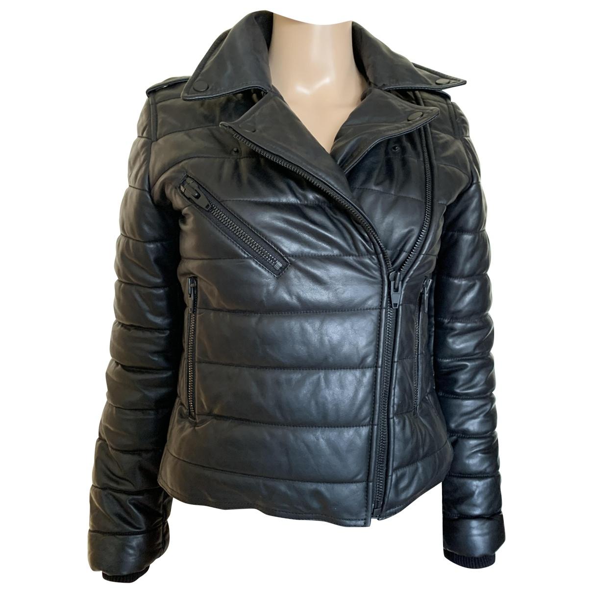 Alexander Wang - Manteau   pour femme en cuir - noir
