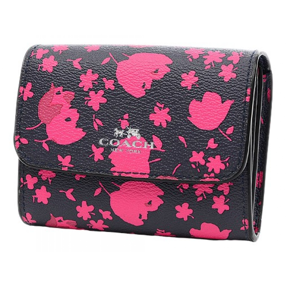 Coach \N Navy Leather wallet for Women \N