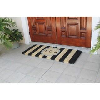 A1HC Haywood Monogrammed Handmade Entry Double Doormat 24