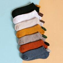 7 pares calcetines tobilleros simple