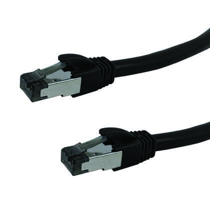 C�ble de brassage blind� Cat8 S/FTP 40G 24AWG Riser CMR Noir - 7pi
