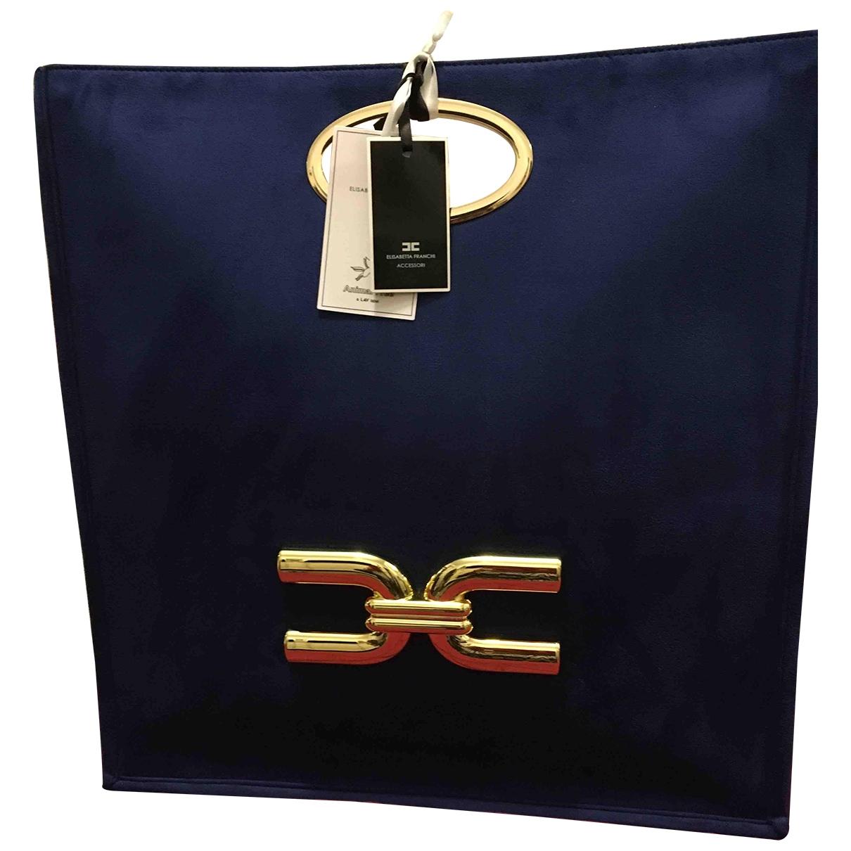 Elisabetta Franchi \N Blue Leather handbag for Women \N