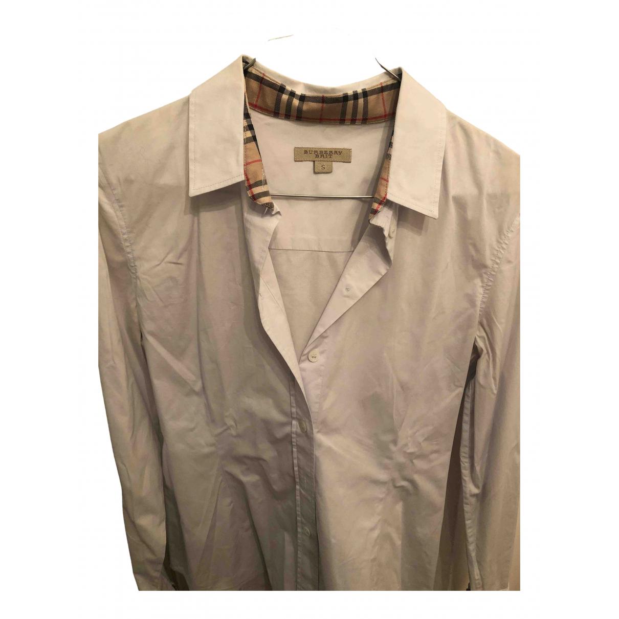 Burberry - Top   pour femme en coton - turquoise