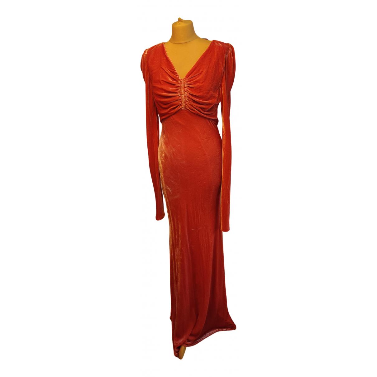 Ellery \N Kleid in  Rosa Samt