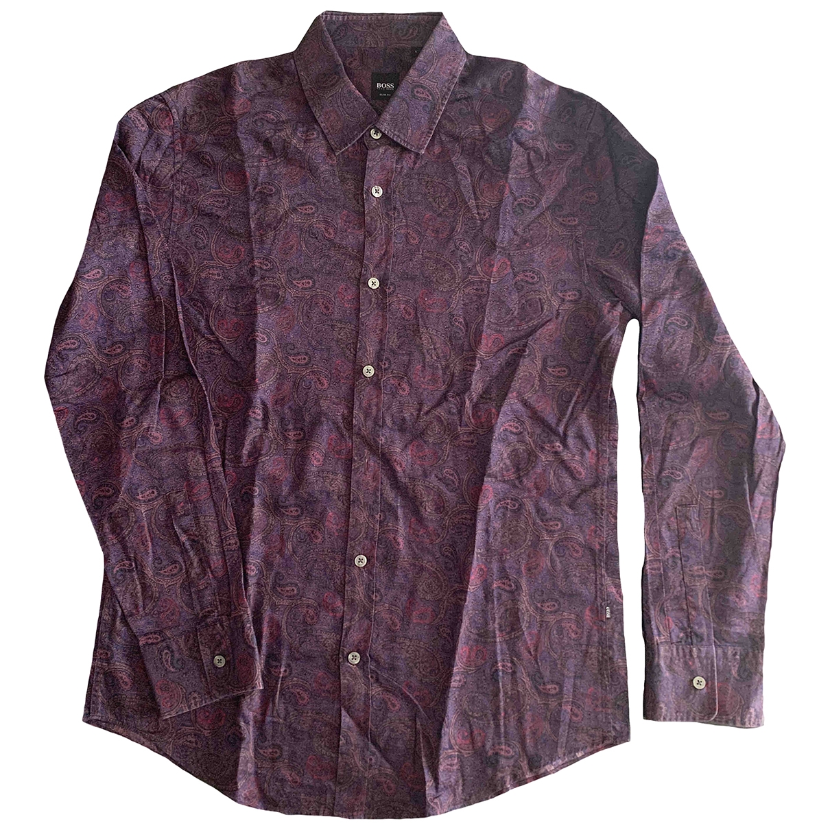 Boss \N Purple Cotton Shirts for Men L International
