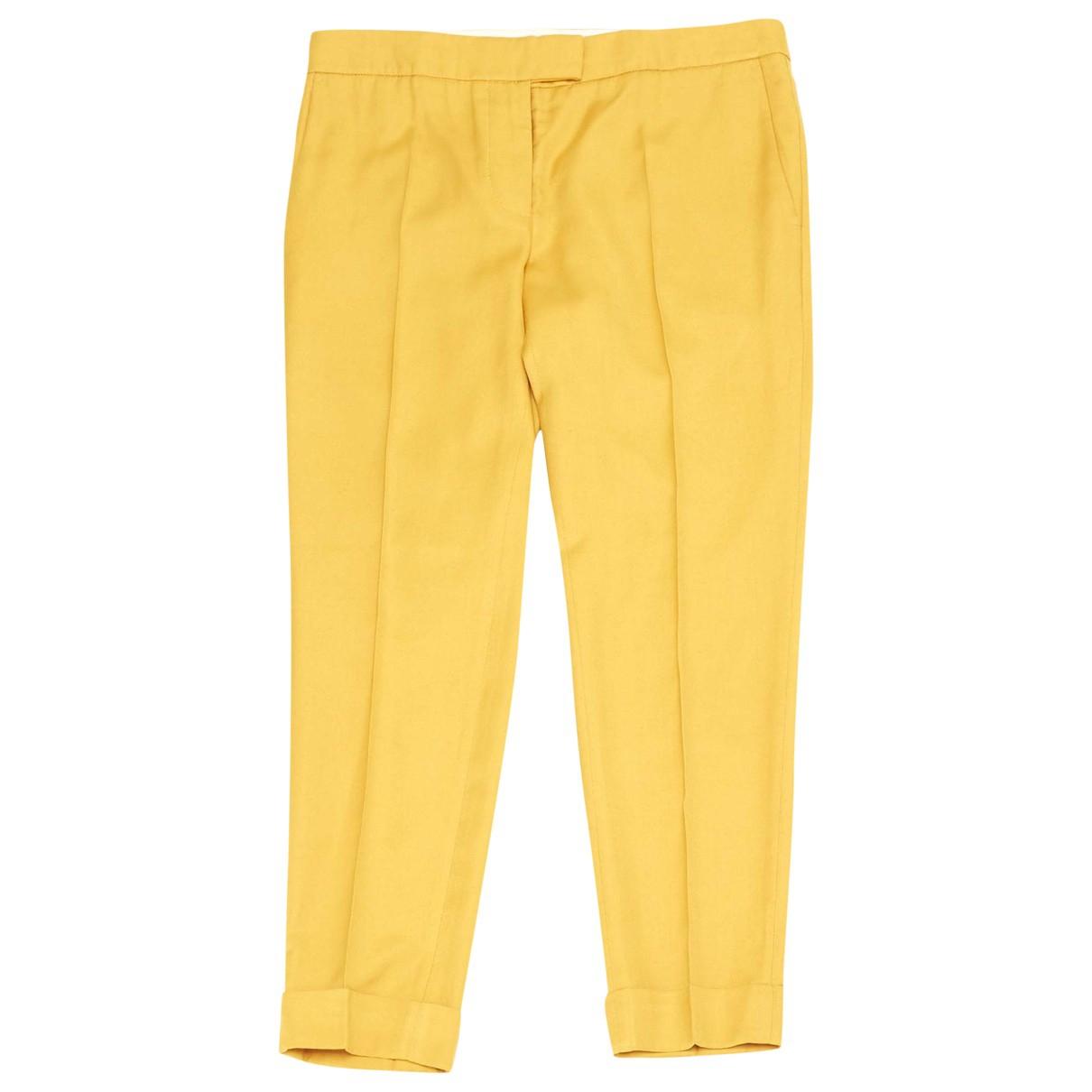 Stella Mccartney \N Yellow Trousers for Women 40 IT