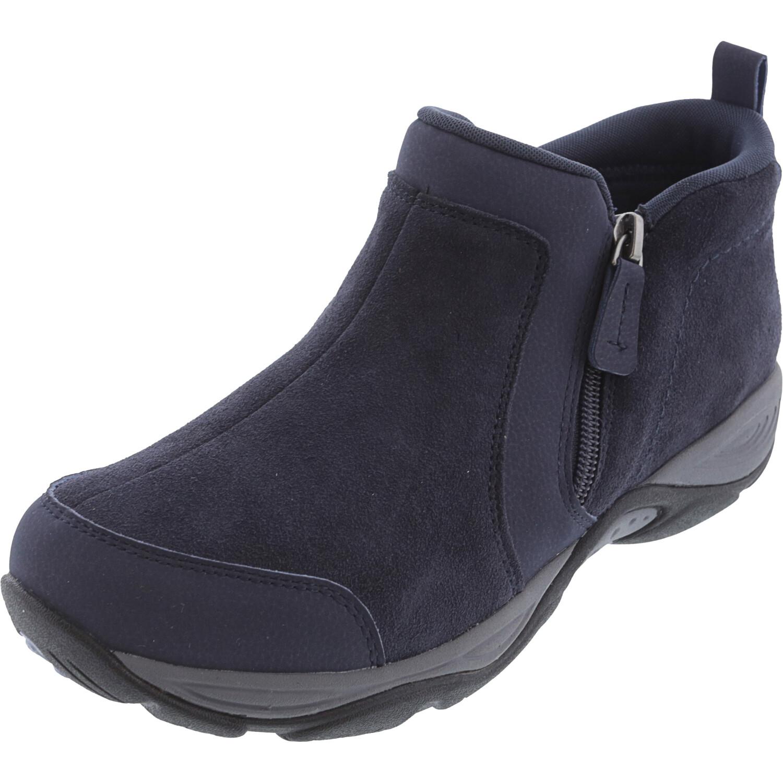 Easy Spirit Women's Evony Dark Blue Ankle-High Suede Boot - 7.5M
