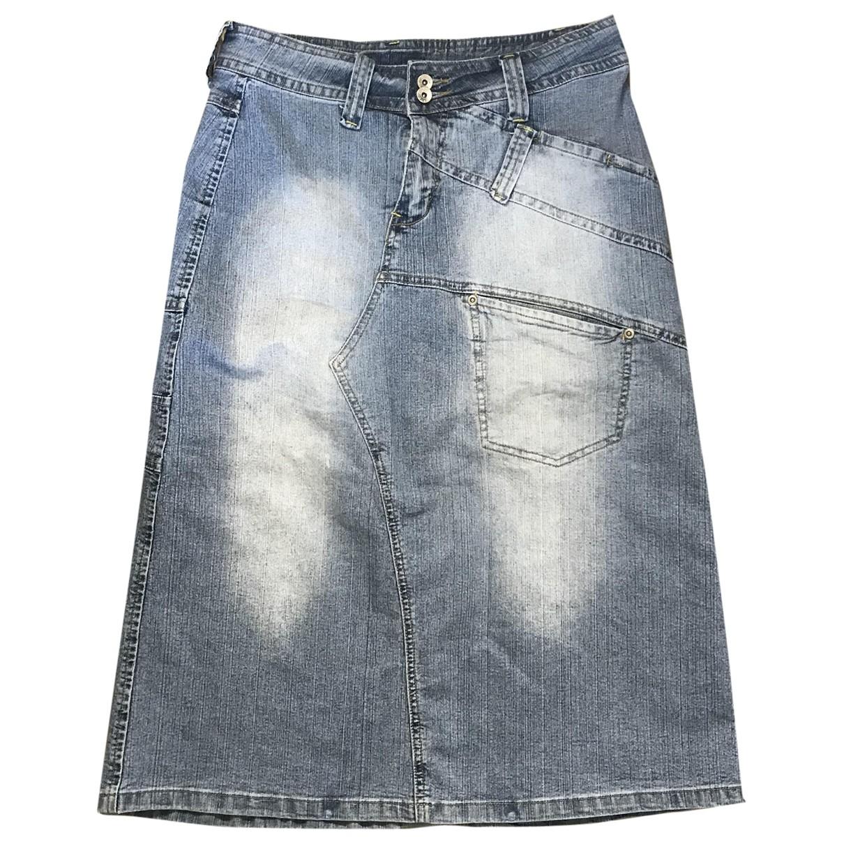 Non Signe / Unsigned Oversize Rocke in  Blau Denim - Jeans