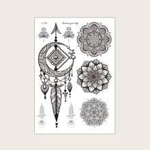1 Blatt Tattoo Aufkleber mit Grafik