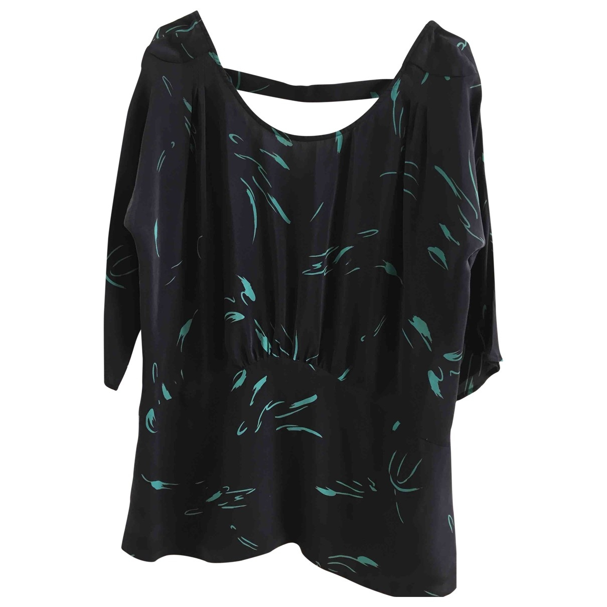 Non Signé / Unsigned \N Black Silk  top for Women 14 UK