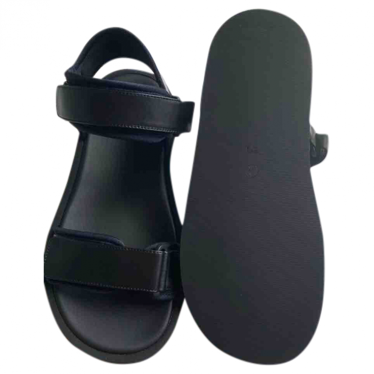 The Row \N Black Leather Sandals for Women 37.5 EU