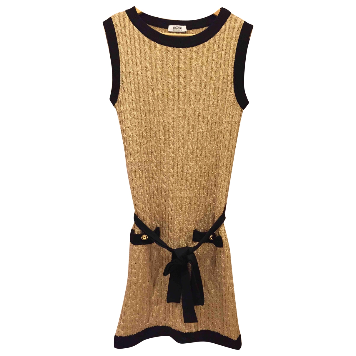 Moschino Cheap And Chic \N Kleid in  Gold Synthetik