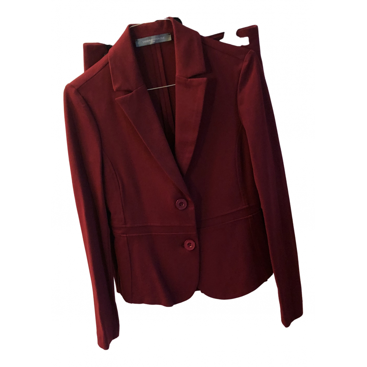 Non Signé / Unsigned \N Burgundy jacket for Women 40 IT