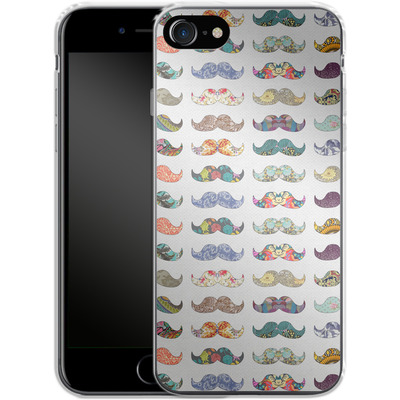 Apple iPhone 8 Silikon Handyhuelle - Mustache Mania von Bianca Green