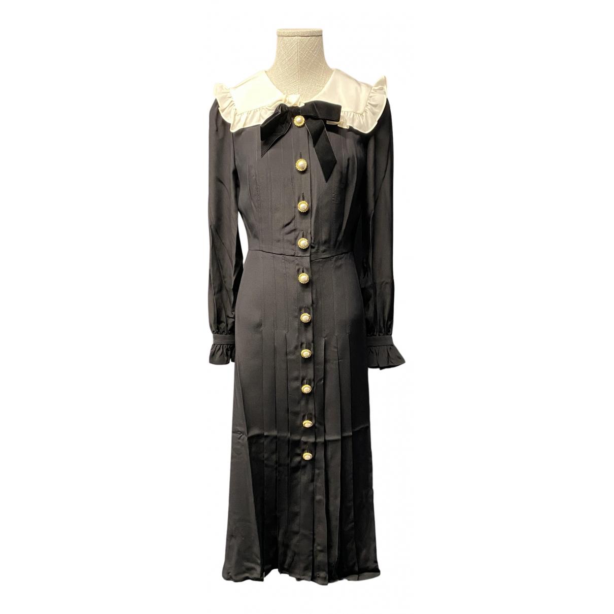 Alessandra Rich \N Kleid in  Schwarz Seide